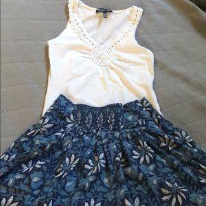 Banana Republic Blue Floral skirt